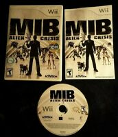 Men in Black Alien Crisis Wii Complete with Manual CIB Good Condition