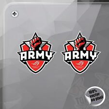 PEGATINA ASUS ARMY REPUBLIC OF GAMERS DECAL STICKER AUFKLEBER AUTOCOLLANT