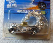 1997 HOT WHEELS RODZILLA #323 - SILVER w/ GOLD ENGINE