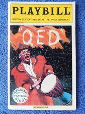 QED - Vivian Beaumont Theatre Playbill - Opening Night - November 2001 - Alda
