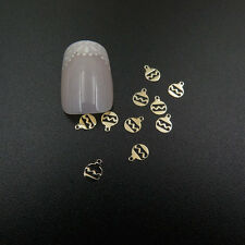 Christmas 3D Nail Art GOLD Metal Baubles Metal Nail Stickers Decoration