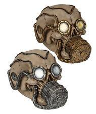 Spardose Skull Totenkopf mit futuristischer Brille & Gasmaske Deko Horror Geld