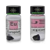 1 Gram > 99,96% Europium Metal Element 63 Sample Shoe Piece / S Labeled Glass