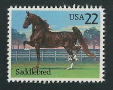Scott #2157...22 Cent....Horses....Saddlebred...5 Stamps