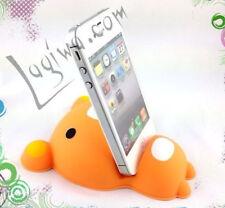 Support ourson en silicone pour tout smartphone - ourson orangé