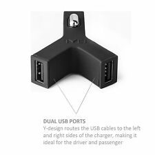 2.1 Amp Dual Port USB Car Charger Adapter Plug for 2 Devices Apple iPhone/iPad