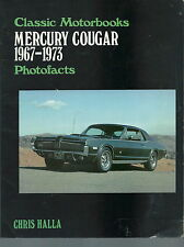 NH-002 - Chris Halla Mercury Cougar Photofacts 1967-73 Classic Motorbooks Vintag