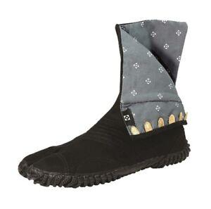 Marugo Complete Black Ninja Tabi Split Toe Shoes - Saibu 7 Clasps