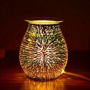 Electric Wax Melt Burner Aroma Melt Warmer 3D Lamp Starburst Touch Control