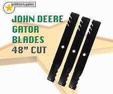 "MOWER BLADES x 3 GATOR STYLE to suit JOHN DEERE 48"" DECK (7 point star)"