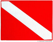 Diver Down Flag Embroidered Scuba Patch - Large 8.5x11 Iron-On Souvenir