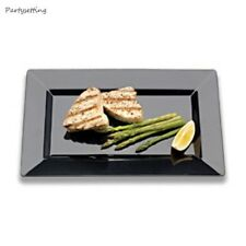 "11"" EMI-YOSHI  RECTANGLE  DINNER PLATES 120 PCS CHINALIKE REUSABLE COLOR CHOICE"