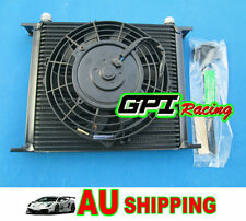Universal 30 ROW OIL COOLER + FAN JZA80/MA70/MR2/JZX90/CELICA GT4/HZJ//HDJ/FJ/BJ