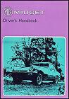 MG Midget Owners Manual 1975 1976 1977 1978 US Drivers Handbook Owner Guide Book