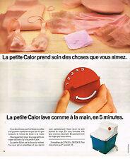 PUBLICITE  1976   CALOR  la petite machine à laver