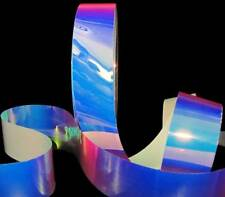 10 Yards Reflective Iridescent Pool Water Clear Acetate Plastic Like Ribbon 1 1/