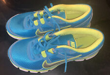 """Nike Women's Size 8.5 Teal and Lime Green """"Dual Fusion St"""" Running Shoe"""