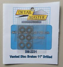 "VENTED DISC BRAKES 11"" DRILLED 1:24 1:25 DETAIL MASTER CAR MODEL ACCESSORY 2231"