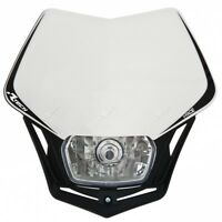 Mascherina Portafaro Fanale Anteriore Moto Racetech V-Face Bianco Motard Enduro