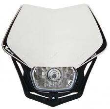 Masque Boîtier d'éclairage Phare Antérieur Motorcycle Racetech V-Face Blanc