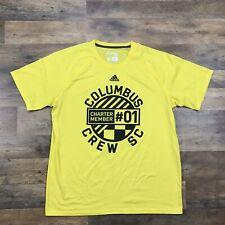 COLUMBUS CREW Shirt Short Sleeve T Shirt Mens Size XL Soccer Futbol Team Adidas