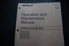 CATERPILLAR G3500 GEN GENERATOR SET Owner Operator Operation Maintenance Manual