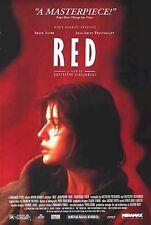 RED ~ USA ~ 27x40 MOVIE POSTER ~ Irène Jacob Krzysztof Kieslowski Rouge