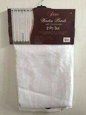Window Elements Jane Grommet Curtain Panel White 80x84 Curtains NEW Covers