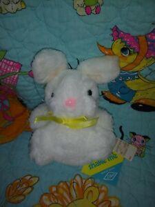 Eden Plush Easter Bunny Rabbit Stuffed Animal Shake Me Shaker Rattle Toy Vintage