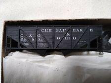 4 NEW ACCURAIL CHESAPEAKE & OHIO WOOD SIDE 2-BAY HOPPER CAR KITS