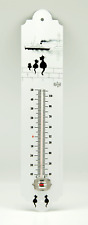 More details for dubout cats - 3 cats on the wall garden thermometer (3 chats sur le mur) vintage