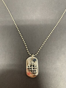 Chrome Hearts Cemetery Cross Dog Tag Sterling Silver