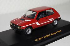 Talbot samba rally 1983 rojo 1:43 Ixo nuevo con embalaje original clc163