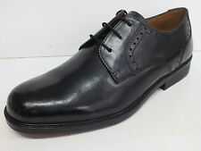MENS CLARKS BLACK LEATHER LACE UP SHOES H BOND LASH (9H)