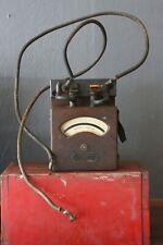 VINTAGE AMP WESTON A C AMMETER WESTERN ELECTRIC INDUSTRIAL GAUGE WOOD BOX METER