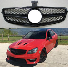AMG Grille Upper Grill for C Class W204 C200 C250 2008-14 2DOOR 4DOOR BLACK AU
