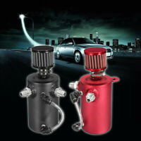 Mini Universal 750ml Aluminum Oil Catch Can Reservoir Tank With Breather