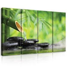 CANVAS Wandbild Leinwandbild BILD Foto Stein Wasser Blumen SPA Bambus 3FX11407S7
