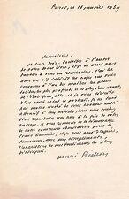 Art Henri Focillon lettre autographe signée Daumier livre Jacques Lassaigne 1939