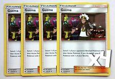 Pokemon, S&M, Burning Shadows, 4X, Guzma 115/147, Non Holo, Common, New, Mint