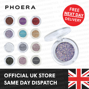 PHOERA GLITTER EYESHADOW PALETTE PIGMENT COLOR EYE SHADOW SPARKLY SHIMMER MAKEUP