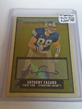 2009 Topps Magic Autographs #192 Anthony Fasano AUTO : Notre Dame Fighting Irish