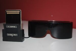 Sega Master System 3D Glasses with Adapter - Cleaned, Tested, Great! SMS 3-D