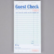 Choice 1 Part Green and White Guest Check with Bottom Guest Receipt-10Pks of 50