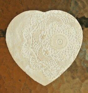 Heart mandala print trinket jewellery box swivel lid home decoration