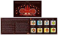 Ukraine 2017 Booklet Set Stamps Emblem of City Stamps 9 Definive Standard #278