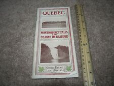 Quebec Railway Light & Power Brochure Montmorency St Anne De Beaupre Brochure