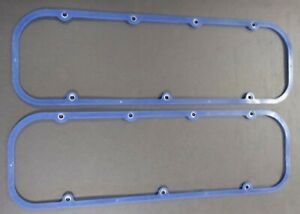 1965 -1985 CHEVROLET PICKUP TRK BBC BLUE SILICONE STEEL CORE VALVE COVER GASKETS