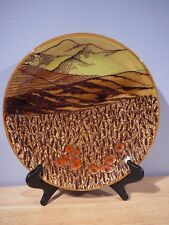 """Baldelli Italy 12.5"""" Pottery Plate Field & Mountains for Holt Renfrew"""