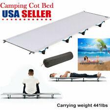 Outdoor Ultralight &Portable Folding Aluminium Alloy Cot Camping Tent Bed Travel